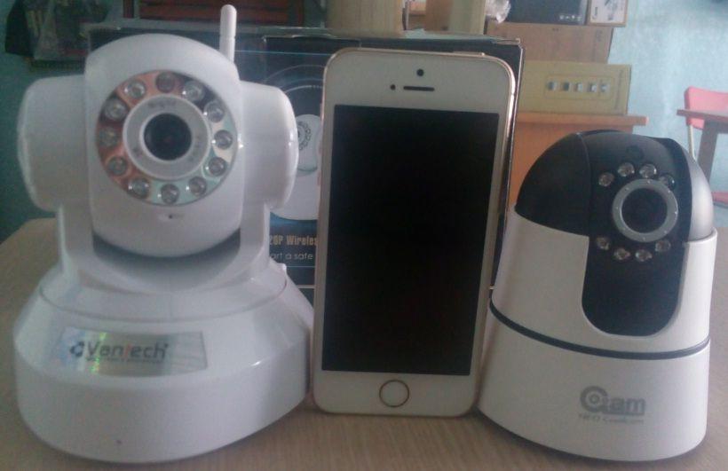 so sánh kích thước camera không dây