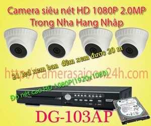 hệ thống camera quan sát giá rẻ camera FULL HD 1080P Nhập Nguyên DG-103AP Bô camera quan sát FULL HD 1080P với độ nét cao 2.0MP sử dụng công nghệ mới nhất dựa trên nền tảng analog do đó có tính ổn định cao. thương hiệu Đài Loan được nhập nguyên bộ từ Đài Loan chính vì vây bạn có thể yên tâm về chất lượng và thương hiệu