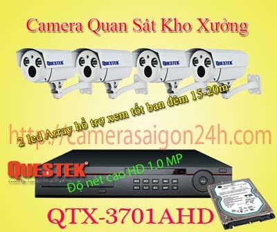 Lắp đặt camera quan sát giá rẻ camera quan sát cho kho bãi QTX-3701AHD